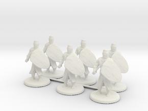 Short Templar Knights in White Natural Versatile Plastic
