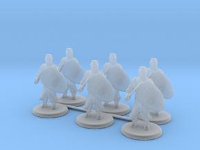 Short Templar Knights in Smooth Fine Detail Plastic