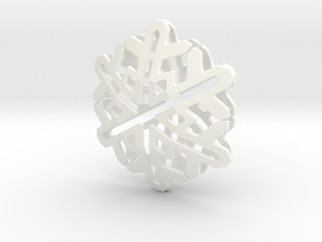 Snowflake No 2 in White Strong & Flexible Polished