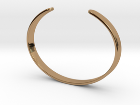 Cuff Bracelet – Narrow in Polished Brass