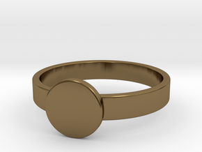 Initial Ring in Polished Bronze