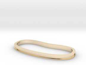 Trench Palm Cuff in 14k Gold Plated Brass: Extra Small