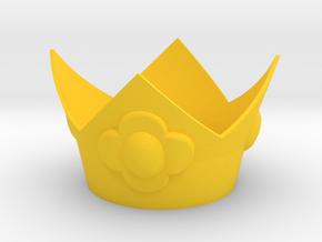 Flower Princess Crown in Yellow Processed Versatile Plastic