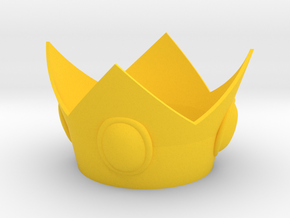 Princess Crown in Yellow Processed Versatile Plastic