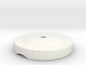 Porcelain Egg Cup Chimney Lid in Gloss White Porcelain