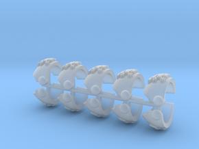 Griffons Tártara Shoulder Pads (set) in Smooth Fine Detail Plastic