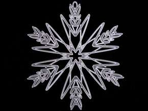 Ava snowflake ornament in Smooth Fine Detail Plastic