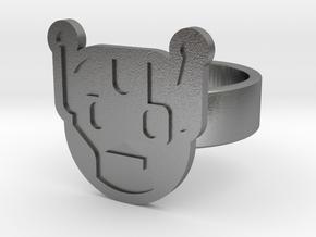 Killbot Ring in Natural Silver: 8 / 56.75
