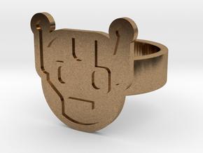Killbot Ring in Natural Brass: 8 / 56.75