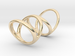 Ring for Bob L1 7-8 L2 1 3-8 D1 6 1-4 D2 6 3-4 D3  in 14k Gold Plated Brass
