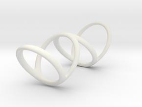 Ring for Bob L1 1 1-4 L2 1 3-4 D1 8 D2 9 3-4 D3 10 in White Premium Strong & Flexible