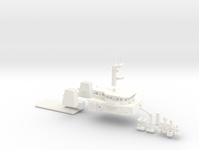 HMCS Kingston, Details 1 of 2 (1:160, RC) in White Processed Versatile Plastic