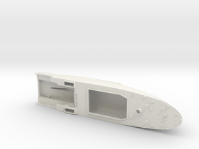 HMCS Kingston, Hull (1:160, RC) in White Natural Versatile Plastic
