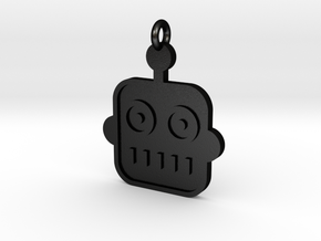 Robot Pendant in Matte Black Steel