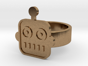 Robot Ring in Natural Brass: 8 / 56.75