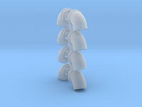 Bullhorns 1/25 6 inch 4pr in Smooth Fine Detail Plastic
