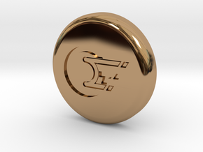 Polaroid Photo Display Button in Polished Brass