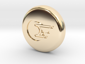 Polaroid Photo Display Button in 14k Gold Plated Brass