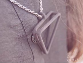 2Triangles Pendant - L in Metallic Plastic