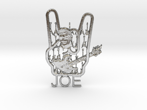 Heavy Joe Pendant in Natural Silver