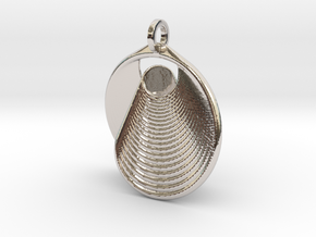 Mobius II in Rhodium Plated Brass