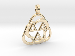 ANCIENT AURA in 14k Gold Plated Brass