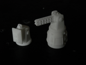 MG144-HE005 Herosine Defense Turret in White Natural Versatile Plastic