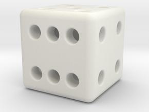 12mm designer dice  in White Premium Strong & Flexible