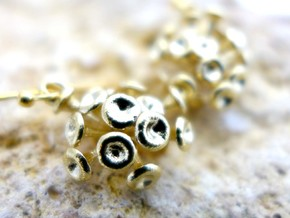 Discosphaera Coccolithophore earrings in Natural Brass