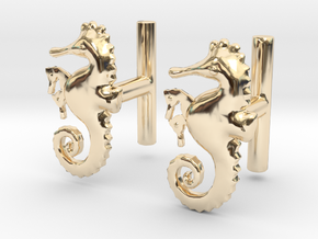 Chapter 3: He is giving birth! Cufflinks in 14k Gold Plated Brass
