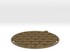 Flower of Life in Natural Bronze