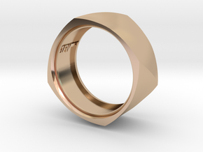 Band with Twisted Cushion Shape. in 14k Rose Gold Plated Brass: 8.5 / 58