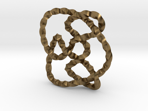 Knot 8₁₅ (Twisted square) in Natural Bronze: Extra Small