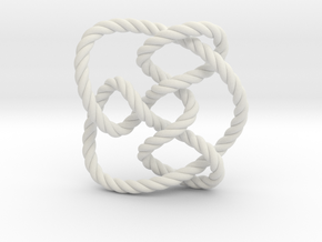 Knot 8₁₅ (Rope) in White Natural Versatile Plastic: Extra Small