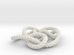 Knot 8₁₅ (Rope with detail) in White Natural Versatile Plastic: Large