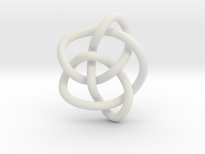 Knot 8₁₆ (Circle) in White Natural Versatile Plastic: Extra Small
