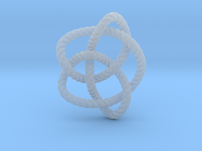 Knot 8₁₆ (Rope with detail) in Smooth Fine Detail Plastic: Large