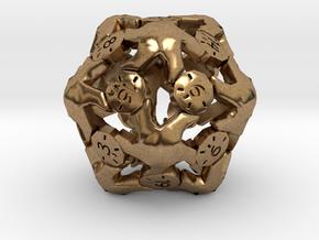 D20 Balanced - Starfish in Natural Brass