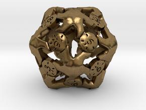 D20 Balanced - Starfish in Natural Bronze