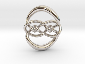Knot 10₁₂₀ (Circle) in Rhodium Plated Brass: Extra Small