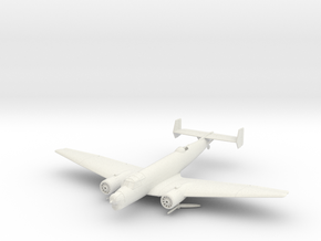 Junkers Ju 86 K in White Natural Versatile Plastic: 1:144