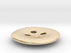 Asymmetrical designer buttons in 14k Gold Plated Brass