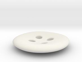 Asymmetrical designer buttons in White Natural Versatile Plastic