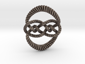 Knot 10₁₂₀ (Rope with detail) in Polished Bronzed Silver Steel: Large