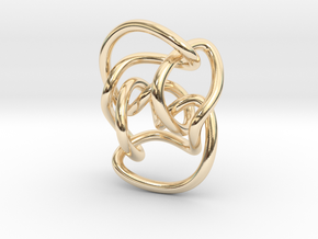 Knot 10₁₄₄ (Circle) in 14k Gold Plated Brass: Extra Small