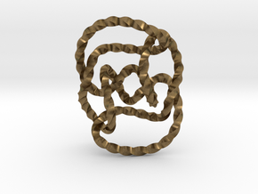 Knot 10₁₄₄ (Twisted square) in Natural Bronze: Extra Small