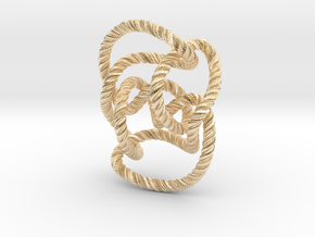 Knot 10₁₄₄ (Rope with detail) in 14k Gold Plated Brass: Large