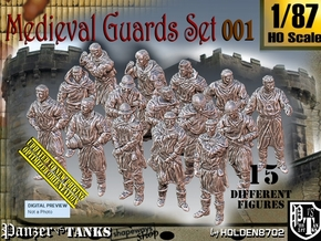 1/87 Medieval Guards Set001 in Smooth Fine Detail Plastic