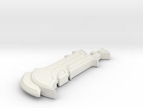 Miniature Vigil Triumph Sword in White Natural Versatile Plastic: 1:24