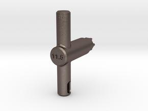 Portal Key in Polished Bronzed Silver Steel
